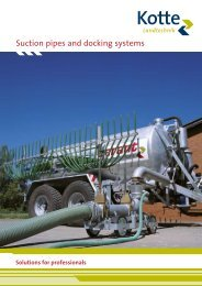garant suction pipes and docking systems – the ... - Kotte Landtechnik