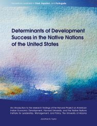 Determinants of Development Success in the Native Nations of the ...