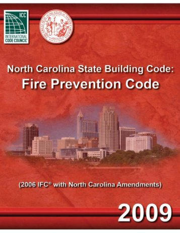 NC Fire Prevention Code (2009)