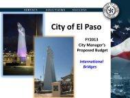 Presentation - City of El Paso