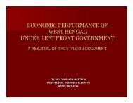 Economic Performance of West Bengal under Left Front