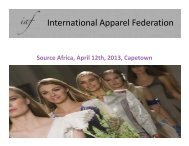 Building Bridges in the Fashion Chain, by Mr. Matthijs ... - Cotton Africa