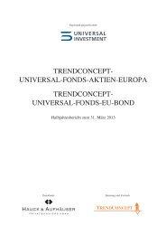 trendconcept - Hauck & Aufhäuser Privatbankiers KGaA