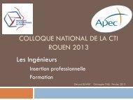 Présentation APEC / IESF - Commission des Titres d'Ingénieur