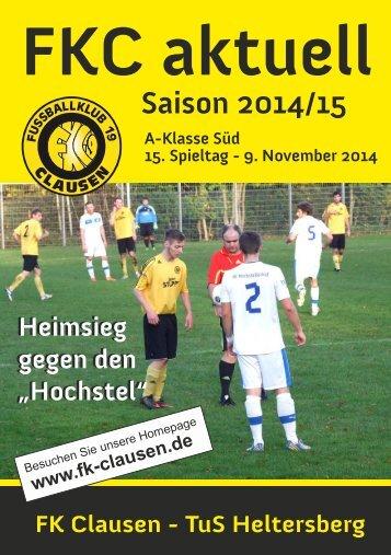 FKC Aktuell - 15. Spieltag - Saison 2014/2015
