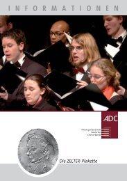 Die ZELTER-Plakette - Deutscher Chorverband