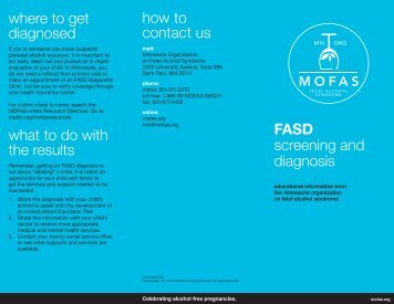 FASD screening and diagnosis where to get diagnosed what to do ...