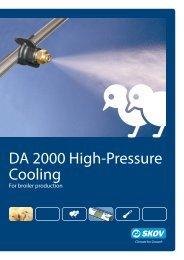 DA 2000 high-pressure cooling Poultry - Skov A/S