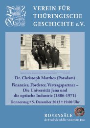 Dr. Christoph Matthes (Potsdam) - Verein für Thüringische Geschichte
