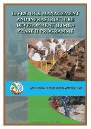 livestock management and infrastructure development (limid)