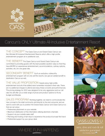 Cancun's ONLY Ultimate All-Inclusive Entertainment ... - PDF Archive
