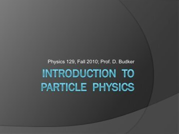 Introduction to particle physics I.pdf - The Budker Group