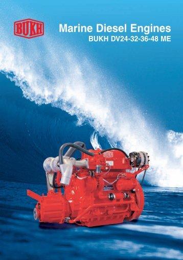 Marine Diesel Engines BUKH DV24-32-36-48 ME