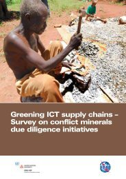 Greening ICT supply chains – Survey on conflict minerals due ... - ITU