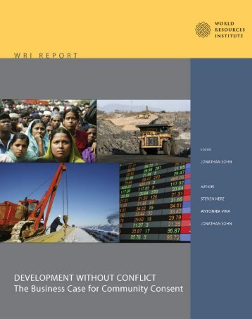 Development Without Conflict - World Resources Institute