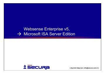 Websense 5, Microsoft ISA Edition, TEPUM Secura