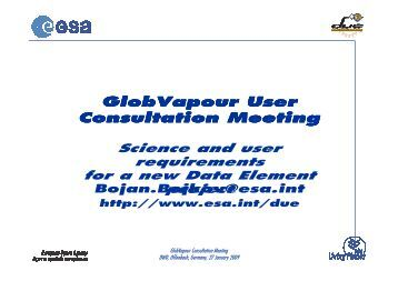Background, Overview, Framework - Data User Element - ESA