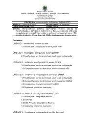 Disciplina - Instituto Federal Sul-rio-grandense