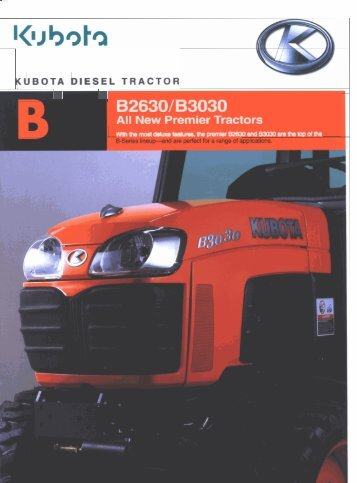 Kubota B2630 and B3030 Brochure - LiveUpdater