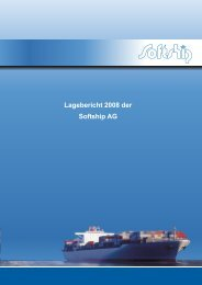 Lagebericht der Softship Aktien - Softship.com