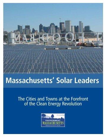 Download Massachusetts Solar Leaders.pdf - Frontier Group