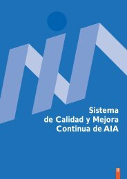 Sistema de calidad y mejora continua de la AIA