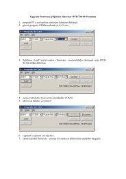 Upgrade firmware přijímače Interstar DVB-T8100 ... - DVBTshop.net