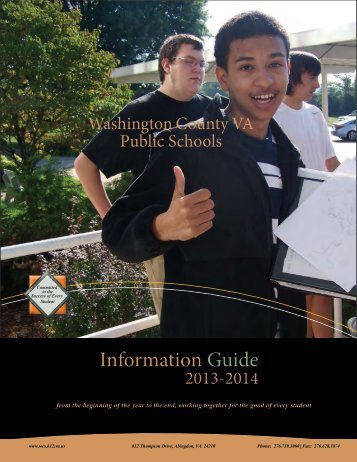 School Information Guide - Washington County Public Schools