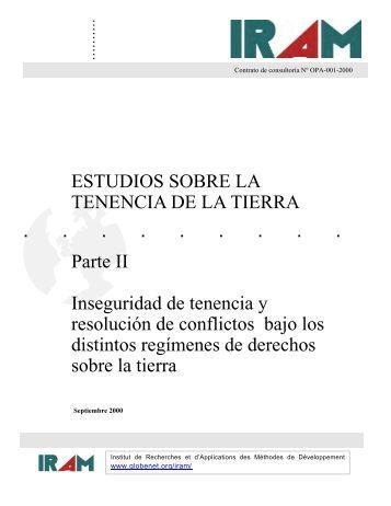 ESTUDIOS SOBRE LA TENENCIA DE LA TIERRA Parte II ... - Agter