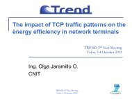 The impact of TCP traffic patterns on the energy efficiency in network ...