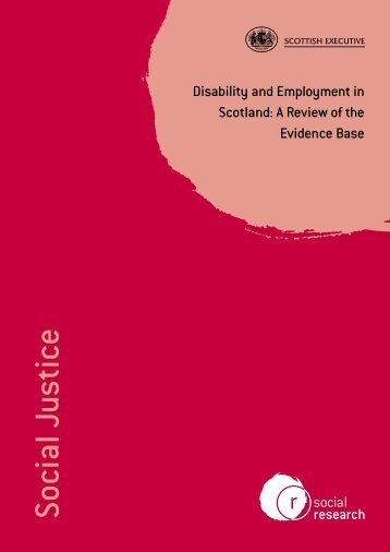 Disability and employment in Scotland - eatwell