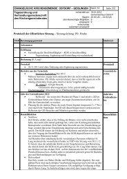 KGR Protokoll vom 18. Januar - Evangelische Kirchengemeinde ...