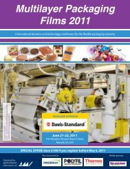 AMI's Multilayer Packaging Films 2011 Program - AMI Consulting