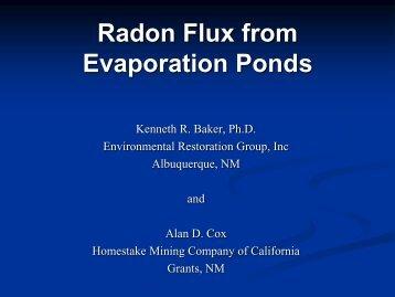 Radon Flux from Evaporation Ponds