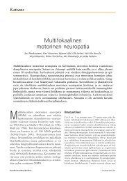 Multifokaalinen motorinen neuropatia - Terveyskirjasto