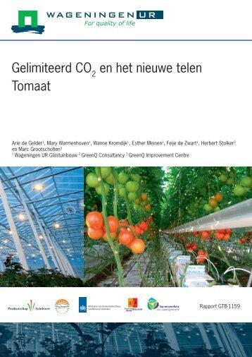 Gelimiteerde CO2 bij Het Nieuwe Telen Tomaat - Energiek2020