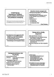 Unterbringung: Gesetzliches Verfahren, gesellschaftliche ...