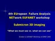 4th EUropean Failure Analysis NETwork EUFANET workshop ... - Free