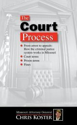 The Court Process in Missouri - Missouri Attorney General