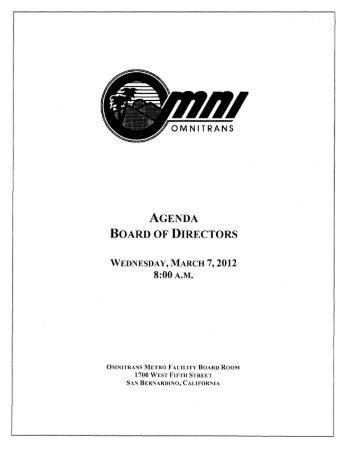 Board Agenda, full version - Omnitrans