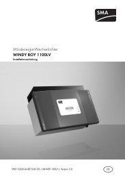 Installationsanleitung Windy Boy 1100LV - Solarbag-Shop