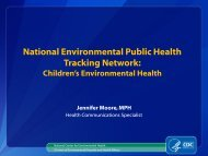 Introduction to Environmental Public Health Tracking for Bloggers