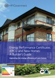 Energy Performance Certificates (EPCs) and New Homes: A ...