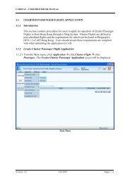 Charter Passenger Flight Application