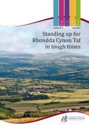Leaders Annual Report 2012 - Rhondda Cynon Taf