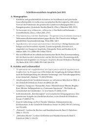 Publikationsliste zum Herunterladen - Orthodoxe Theologie