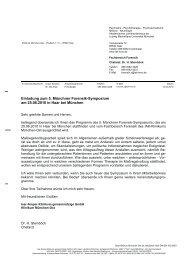 Therapie im Maßregelvollzug - Klinikum München-Ost