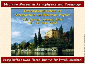 Neutrino Masses in Astrophysics and Cosmology International ...