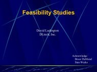 Feasibility Studies - Manure Management