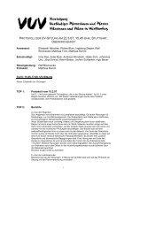 protokoll der uv-sitzung am 22.3.07, 15.45 uhr, stuttgart - VUV